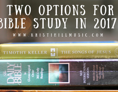 Two Options for Bible Study in 2017