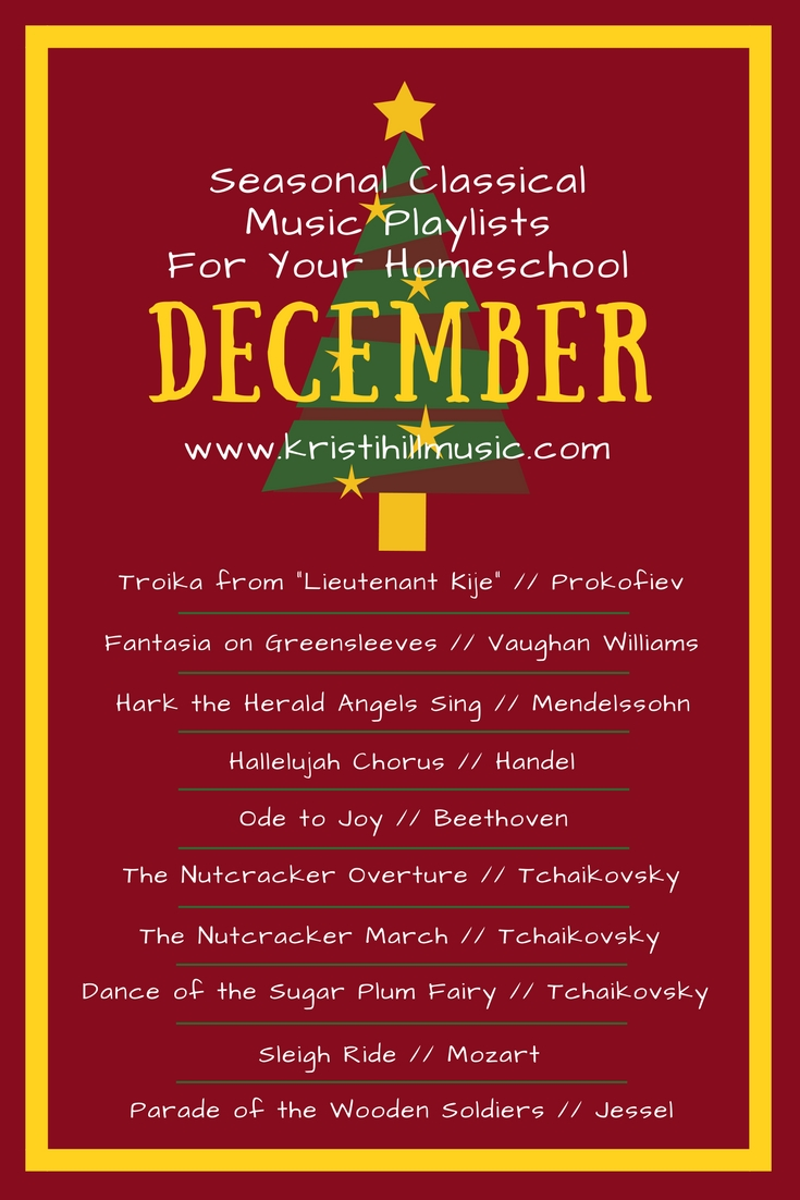 Classical Music Playlists for Your Homeschool: December - Kristi ...